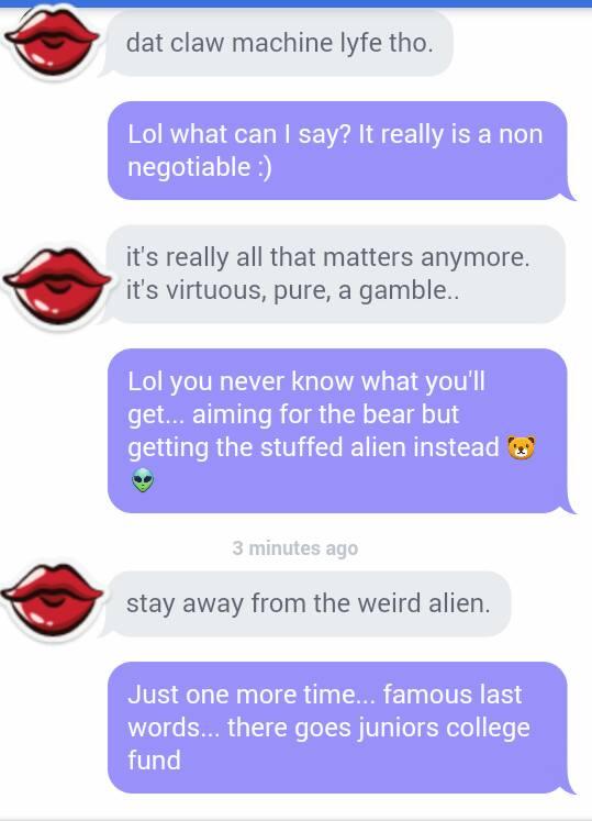 Weird dating messages